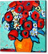 Poppies And Daisies Bouquet Acrylic Print