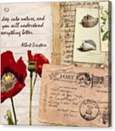 Poppies And Postcards Acrylic Print
