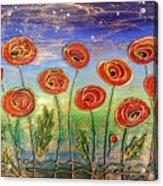 Poppies At Night Acrylic Print