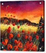 Poppies At Sunset 67 Acrylic Print