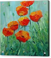 Poppies For Sally Acrylic Print
