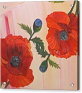 Poppies In Love Acrylic Print