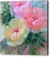 Poppies In Pastel Colors Acrylic Print