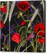 Poppies In The Corn Acrylic Print