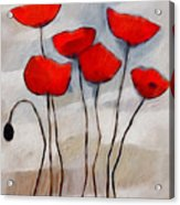 Poppies Painting Acrylic Print