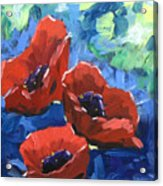 Poppies Splender Acrylic Print