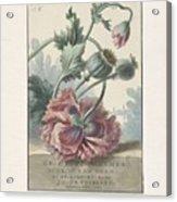 Poppies, Willem Van Leen, 1804 Acrylic Print