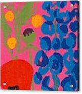 Poppy And Delphinium Acrylic Print