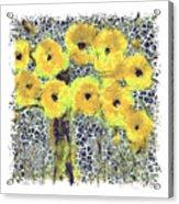 Poppy Bouquet I Pf Acrylic Print