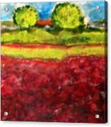 Poppy Meadow Acrylic Print