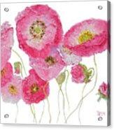 Poppy Painting On White Background Acrylic Print