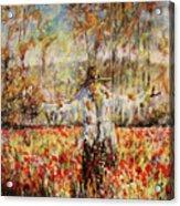 Poppy Scarecrow Acrylic Print