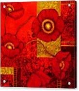 Poppy Treasures II Acrylic Print