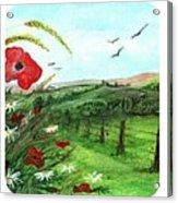 Poppy Tryptic Acrylic Print