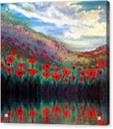 Poppy Wonderland Acrylic Print