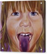 Popsicle Tongue Acrylic Print