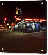 Popular Chicago Hot Dog Stand Night Acrylic Print