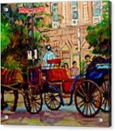 Popular Quebec Artists Carole Spandau Painter Of Scenes De Rue Montreal Street Scenes Acrylic Print