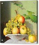 Porcelain Fruit Bowl Acrylic Print