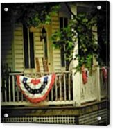 Porch Flag Acrylic Print