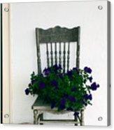 Porch Flowers Acrylic Print