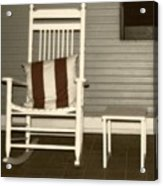 Porch Rocker Acrylic Print