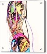 Porn Babes-amy Acrylic Print