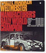 Porsche 1970 Rally World Champion Acrylic Print