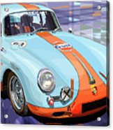 Porsche 356 Gulf Acrylic Print by Yuriy  Shevchuk