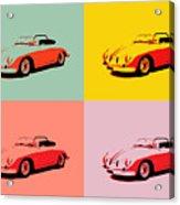 Porsche 356 Pop Art Panels Acrylic Print