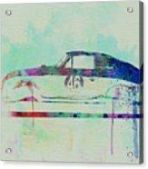 Porsche 356 Watercolor Acrylic Print