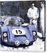 Porsche 906 Daytona 1966 Herrmann-linge Acrylic Print by Yuriy  Shevchuk