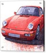 Porsche 911 Carrera 2 1990 Acrylic Print