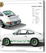 Porsche 911 Carrera Rs Illustration Acrylic Print