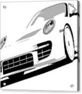 Porsche 911 Gt2 White Acrylic Print