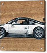 Porsche 911 Gt3r On Wood Acrylic Print