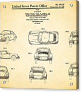 Porsche 911 Patent Acrylic Print