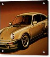 Porsche 911 Turbo 1976 Painting Acrylic Print