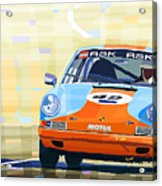 Porsche 911 S  Classic Le Mans 24  Acrylic Print by Yuriy  Shevchuk