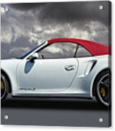 Porsche 911 Turbo S With Clouds Acrylic Print