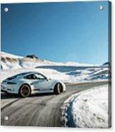 Porsche 911r Powerslide Acrylic Print