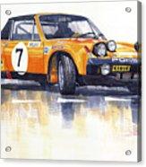 Porsche 914-6 Gt Rally Acrylic Print