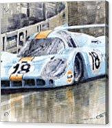 Porsche 917 Lh 24 Le Mans 1971 Rodriguez Oliver Acrylic Print by Yuriy  Shevchuk