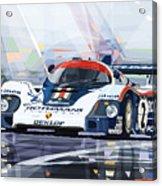 Porsche 956 Rothmans 1982 1000km Francorchamps Derek Bell Acrylic Print