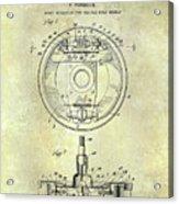 Porsche Brake Mechanism Patent Acrylic Print