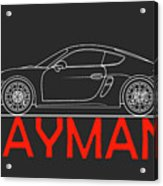 Porsche Cayman Phone Case Acrylic Print