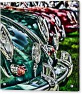 Porsche Row Acrylic Print by Barry C Donovan