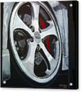 Porsche Techart Wheel Acrylic Print