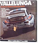 Porsche Vallelunga Vintage Racing Poster Acrylic Print