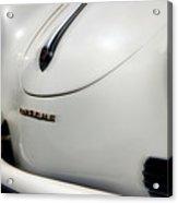 The White Porsche  Acrylic Print